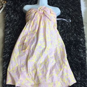 Lilly Pulitzer Strapless dress pink / yellow s 2